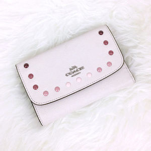 NWT✨COACH Envelope Wallet with Rainbow Rivets